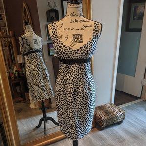 Abstract polka dot David Meister dress